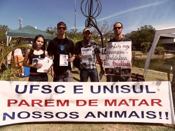 Manifestações contra a crueldade